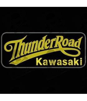 Embroidered patch THUNDER ROAD KAWASAKI