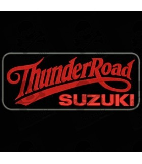 Embroidered patch THUNDER ROAD SUZUKI