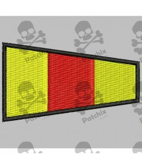 Embroidered patch NAUTIC FLAG NUMBER 0 (ICS ZERO)