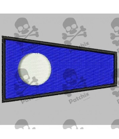 Embroidered patch NAUTIC FLAG NUMBER 2 (ICS TWO)