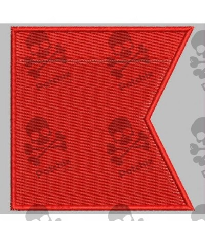 Embroidered patch NAUTICAL FLAG LETTER B (ICS BRAVO)