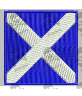 Embroidered patch NAUTICAL FLAG LETTER M (ICS MIKE)