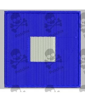 Embroidered patch NAUTICAL FLAG LETTER O (ICS OSCAR)