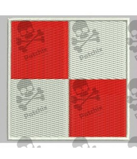 Embroidered patch NAUTICAL FLAG LETTER U (ICS UNIFORM)
