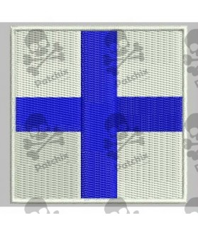Embroidered patch NAUTICAL FLAG LETTER X (ICS XRAY)