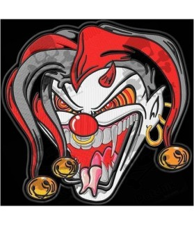 Embroidered Patch KILLER CLOWN JESTER XL
