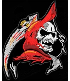 Embroidered Patch SKULL SABLE XL