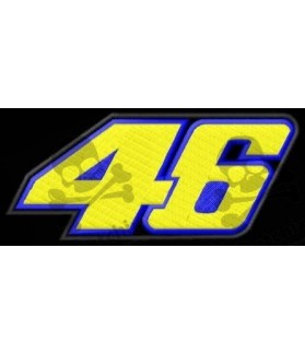 Embroidered patch Motorcycle VALENTINO ROSSI 46
