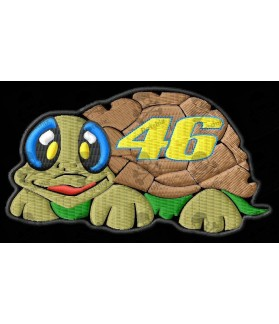Embroidered patch VALENTINO ROSSI 46 TURTLE
