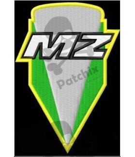 Embroidered patch MZ NEW LOGO