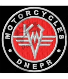 Embroidered patch Motorcycle DNEPR CCCP LOGO