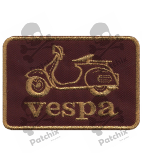 Embroidered patch SCOTTER VESPA GOLD