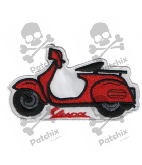 Embroidered patch SCOTTER VESPA RED CLASSIC