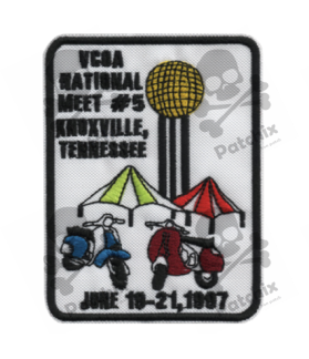 Embroidered patch SCOTTER VESPA TENNESSEE COLLECTION