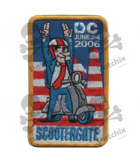 Embroidered patch SCOTTERGATE VESPA COLLECTION