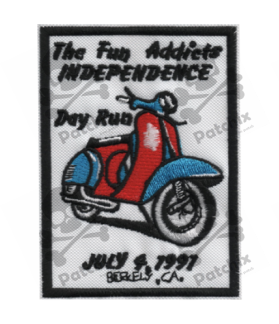 Embroidered patch SCOTTER VESPA COLLECTION BERKELY 1991
