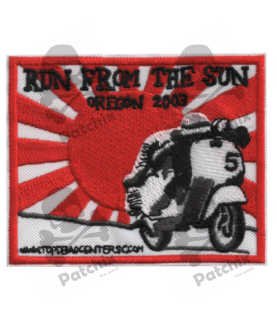 Embroidered patch SCOTTER VESPA COLLECTION OREGN 2013