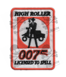 Embroidered patch SCOTTER VESPA COLLECTION HIGH ROLLER 007