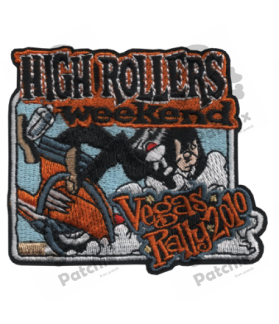 Embroidered patch SCOTTER VESPA COLLECTION VEGAS RALLY 2010