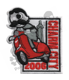 Embroidered patch SCOTTER VESPA COLLECTION CHARM CITY 2006