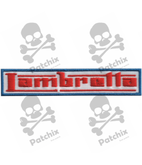 Embroidered patch LAMBRETTA MOTORCYCLE