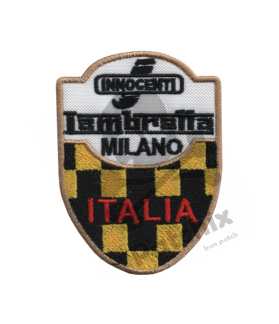 Embroidered patch LAMBRETTA MOTORCYCLE MILANO