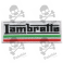 Embroidered patch LAMBRETTA MOTORCYCLE ITALY