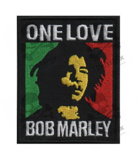 Embroidered patch BOB MARLEY