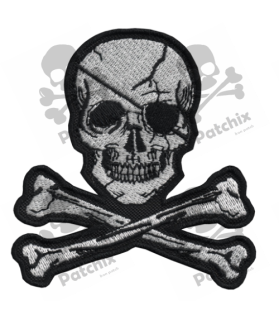 Embroidered patch COLLECTOR PIRATE SKULL