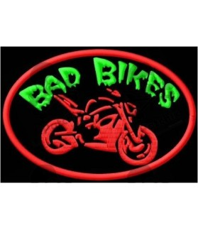 Embroidered patch BAD BIKES