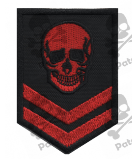 Embroidered patch SKULL MILITARY