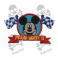 Embroidered patch MICKEY MOUSE