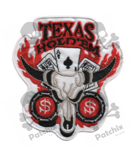 Embroidered patch POKER TEXAS HOLDEM