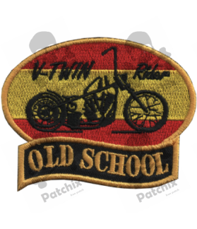 Embroidered patch OLD SCHOOL SPAIN