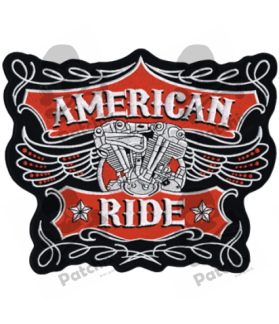 Embroidered patch AMERICAN RIDE