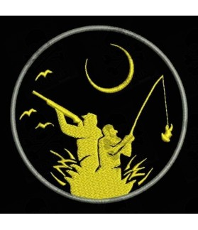 Embroidered Patch HUNTING AND FISHING