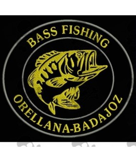 Embroidered Patch BASS FISHING CUSTOMIZABLE