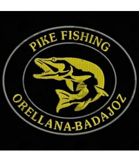 Embroidered Patch PIKE FISHING CUSTOMIZABLE