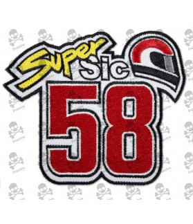 Embroidered Patch 58 MARCO SIMONCELLI