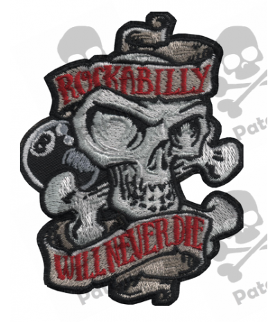 Embroidered patch COLLECTOR WILL NIVER DIE