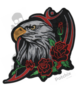 Embroidered patch EAGLE AND ROSES