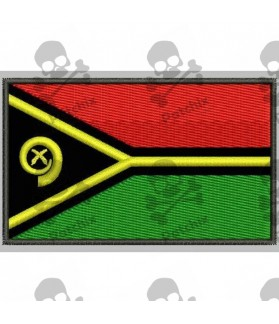 Embroidered patch Iron patch FLAG VANUATU