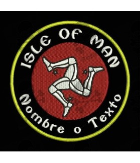 Embroidered Patch ISLE OF MAN CUSTOMIZABLE