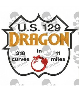 Embroidered patch ROUTE US129 DRAGON