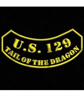 Embroidered patch US129 TAIL OF DRAGON