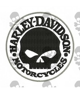 Embroidered patch HARLEY DAVIDSON SKULL