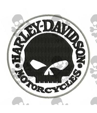 Embroidered Patch Harley Davidson Skull