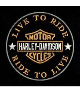 Embroidered patch HARLEY DAVIDSON LIVE TO RIDE