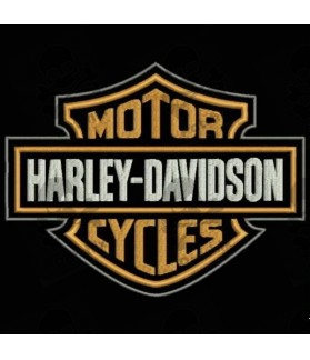 Embroidered patch HARLEY DAVIDSON MOTOR CYCLES