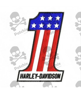 Embroidered patch HARLEY DAVIDSON USA NUMBER ONE